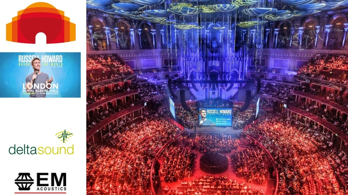 Russell Howard breaks records at RAH with EM Acoustics & Delta Sound