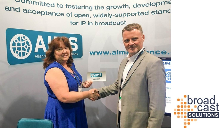 Broadcast Solutions joins Alliance for IP Media Solutions (AIMS) association