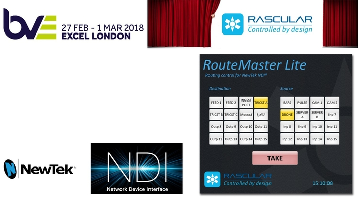 RASCULAR EMBRACES NEWTEK'S NDI IP PROTOCOL WITH NEW ROUTEMASTER LITE