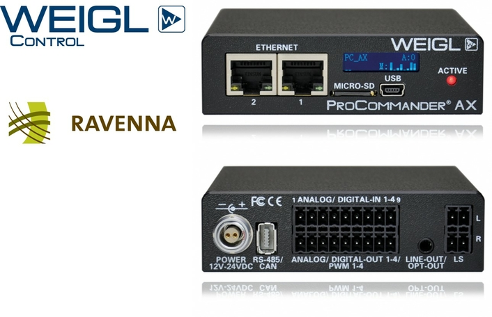 RAVENNA enters world of entertainment with Weigl Control