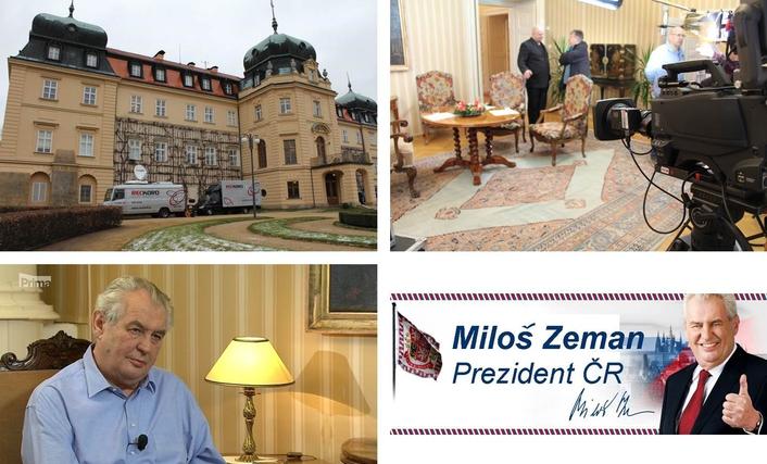 Czech's president Miloš Zeman Lány
