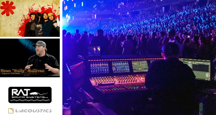 Sully Meets the Challenges for RHCP with Rat Sound and L-Acoustics