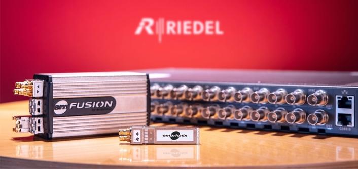 Embrionix Joins Riedel Communications