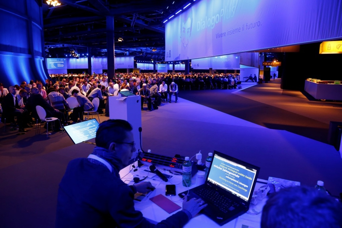 Riedel Media Network and Communications Gear for Massive Corporate Event
