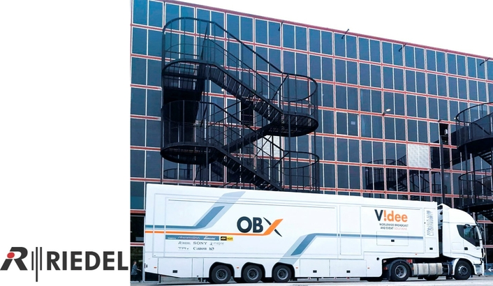 Videe SpA Equips New 4K HDR OB Van With Riedel's Artist and Bolero Intercom Systems