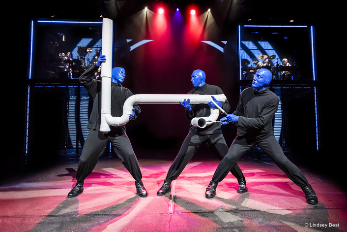 Blue Man Group in Las Vegas  Switches to Robe