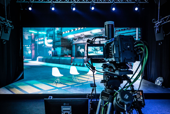 Future is bright!  Virtual Production Studios feature Robe