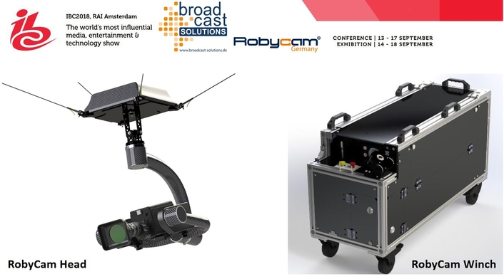 World Premiere at IBC (O.E02) For New Cable Camera  System Robycam Compact