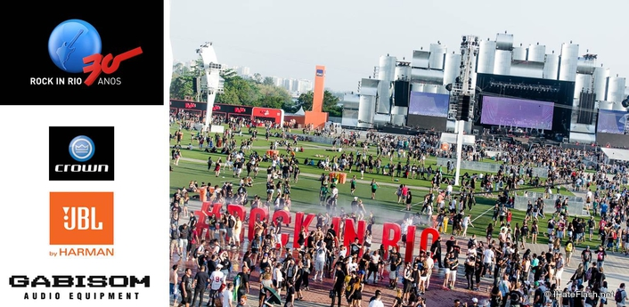 HARMAN Professional Solutions' JBL Professional VTX Line Arrays and Crown I-Tech HD Amplifiers Once Again Deliver Impactful Sound and Reliable Performance at Rock in Rio with Gabisom Audio Equipment