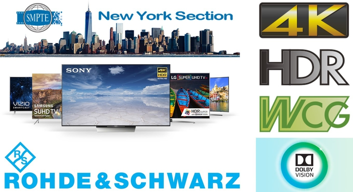 "Rohde & Schwarz to Lead ""Primer on the Production Options for HDR and WCG"" during June SMPTE New York"