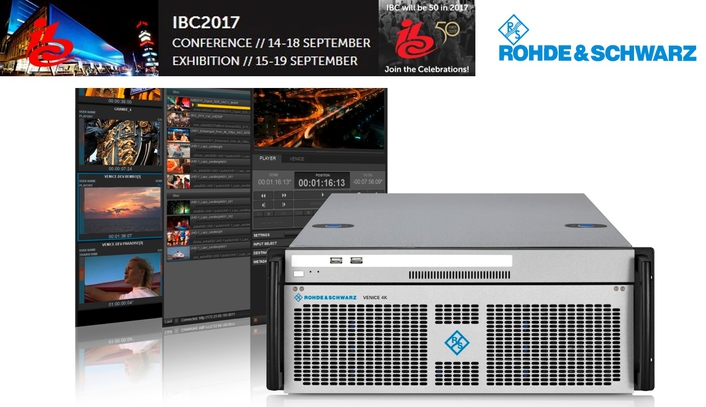 Rohde & Schwarz offers a vision of an IP-based future at IBC 2017