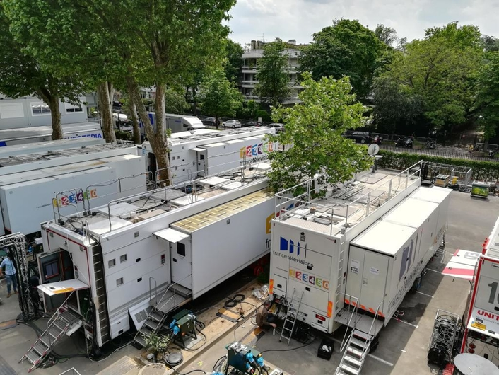 France Télévisions is using Sony's top-end HDC-4300 4K cameras for the Central court.