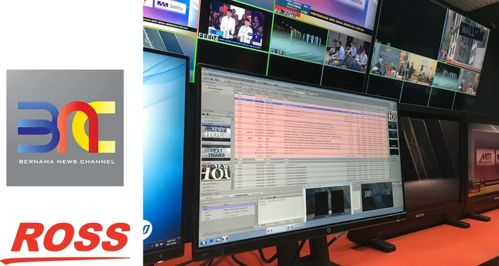 BNC Malaysia Equips 24-Hour News Studio with Ross Video
