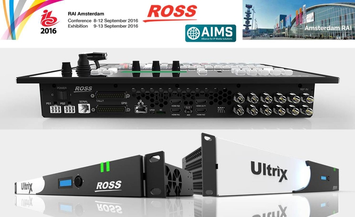 Ross Video Joins AIMS Alliance – Plans to Show IP Interop at IBC