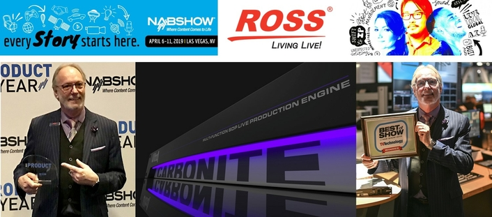 Ross Carbonite Ultra UHD Wins Two Prestigious Awards at NAB 2019