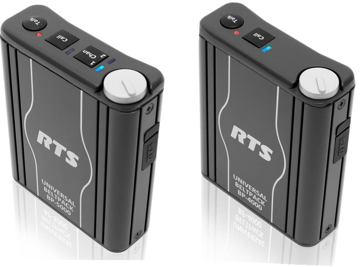 User-friendly universal beltpacks from RTS for party-line intercom deployments