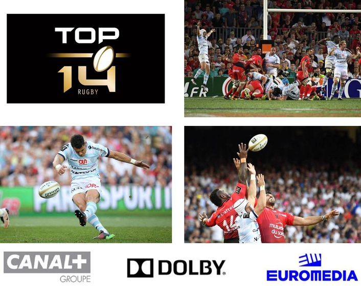 World-first 'live' sports IPTV broadcast featuring UltraHD and Dolby Atmos completed during Top14 Rugby Final