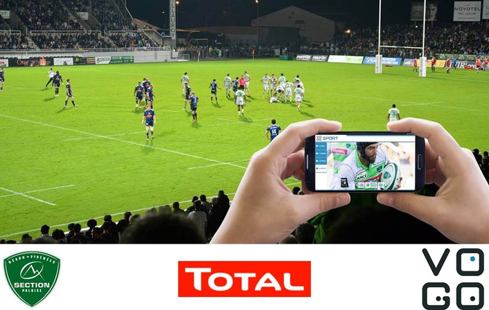 Section Paloise Béarn Pyrénées Rugby Club, TOTAL, and VOGO Deploy VOGO SPORT at Stade du Hameau, Pau for 2015-2016 Season