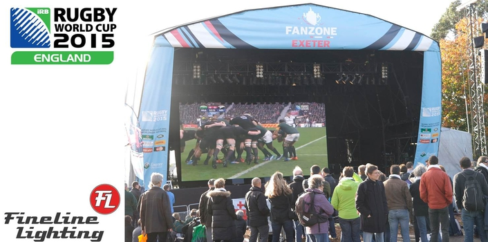 Rugby World Cup fan zone in picturesque Northernhay Gardens in Exeter city centre