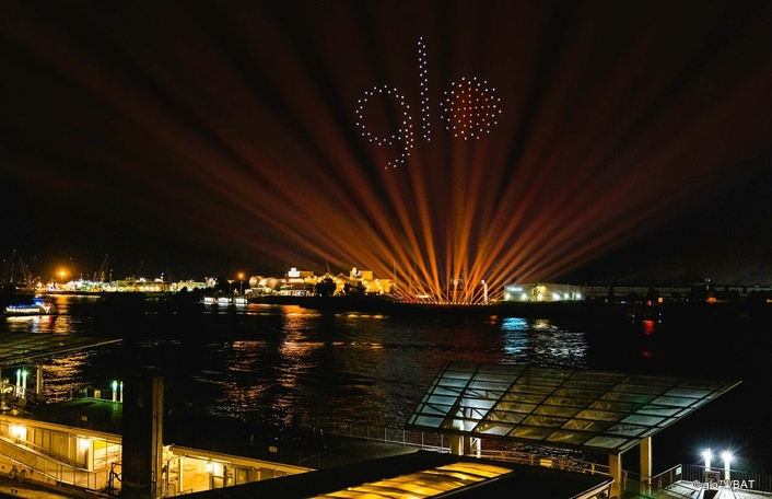 Claypaky Xtylos Fixtures Light Up Hamburg Sky in Spectacular Drone Light Show for British American Tobacco
