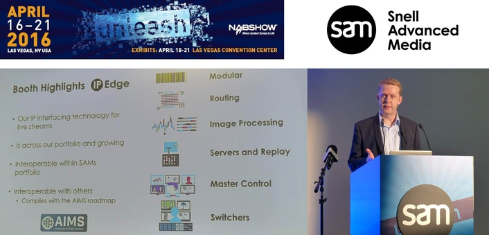 SAM demonstrates its leading position in 4K, IP, HDR, software/virtualization, and monitoring & workflow at NAB 2016