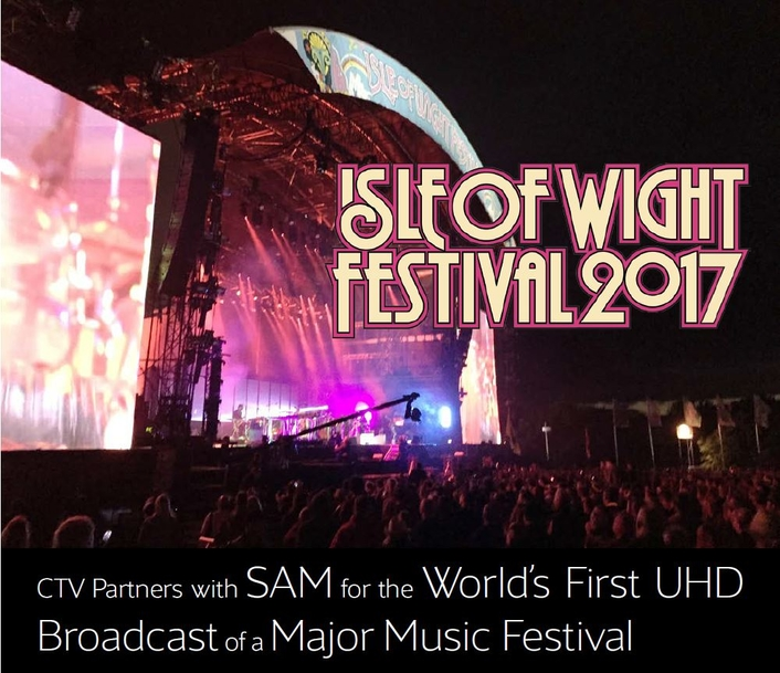 CTV Partners with SAM for the World's First UHD Broadcast of a Major Music Festival