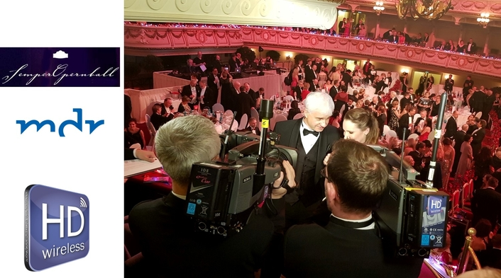 Extensive Video Transmission of Semper Opera Ball