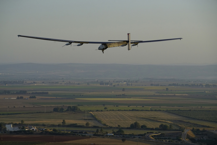 Seville/ Spain/Solar-powered airplane/ Solar Impulse 2/ round the world flight