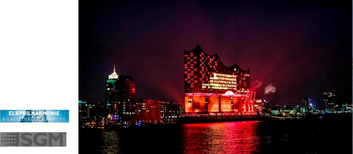 500 SGM wash lights inaugurate the Elbphilharmonie concert hall