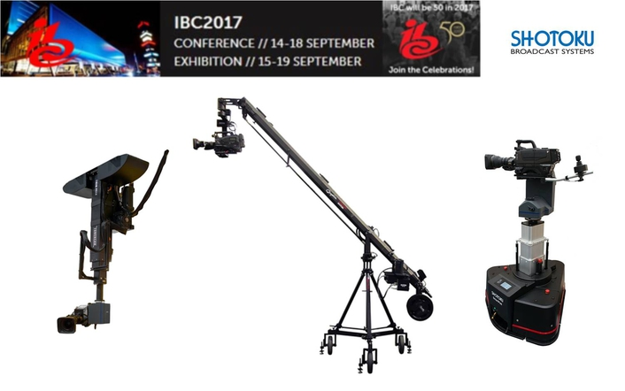Shotoku Broadcast Systems to Hit the Heights with Graphica, a New Series of VR/AR Tracked Camera Cranes, at IBC 2017