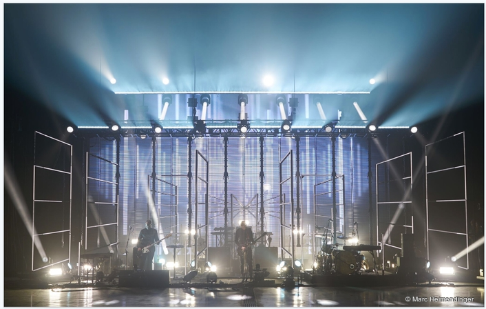LED battens also provide intense rain curtain in West End theatre production