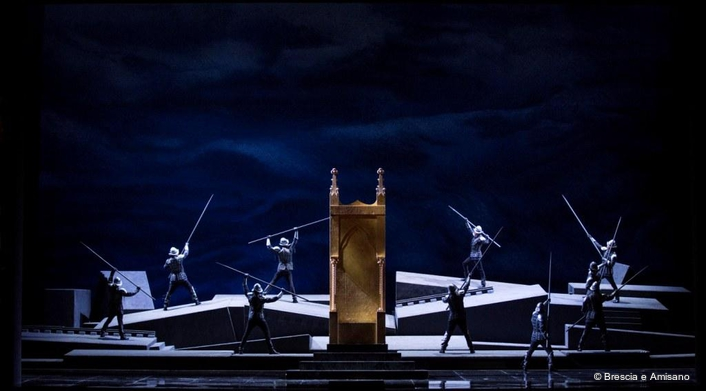 Simon Boccanegra in Moscow, lit by Claypaky