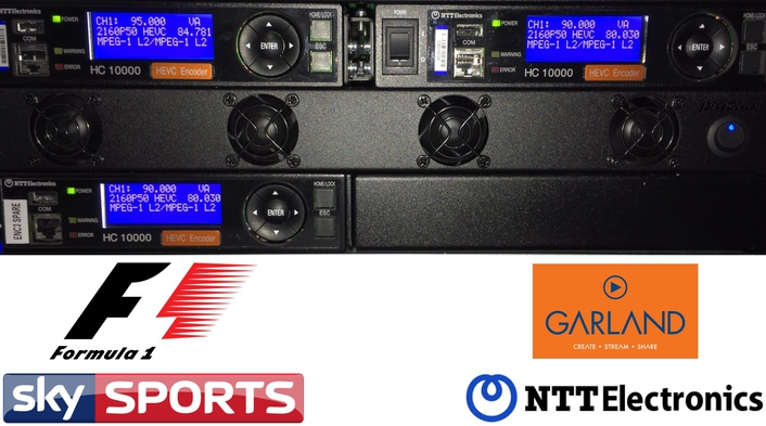 Garland and NTT help Sky Sports race ahead of the competition in providing HEVC UHD coverage