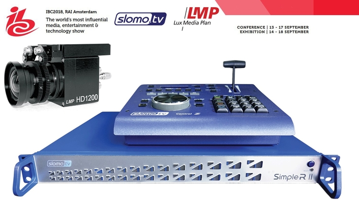 At IBC Slomo.TV integrates world's smallest LMP Lux Media Plan true HD camera HD1200