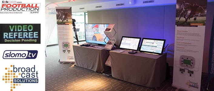 Broadcast Solutions presented videoReferee® to visitors at SVG Europe's Football Production Summit