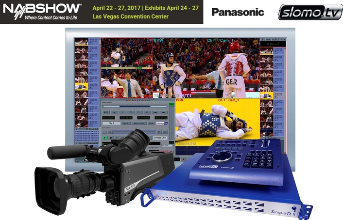 At NAB, Slomo.TV Showcases Elegant Slow Motion Capture and Replay System Integrating Panasonic AK-H5000 4X SuperMotion Camera