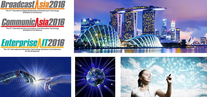 CommunicAsia2016, EnterpriseIT2016 and BroadcastAsia2016 Opened Today With a View of a Digital Future