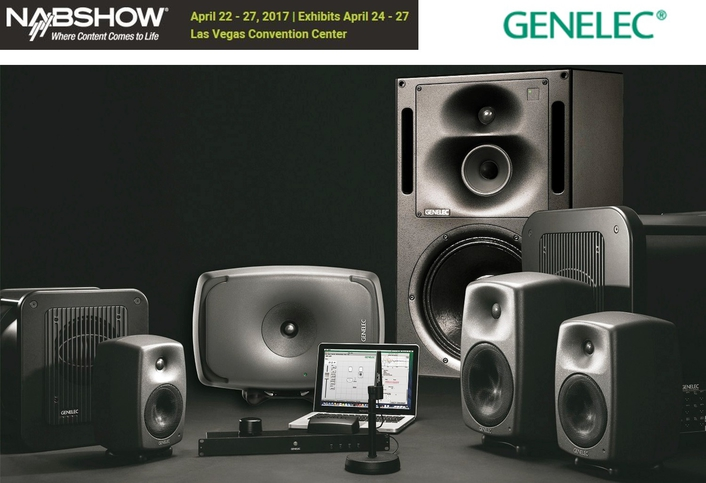 Genelec Demonstrating Its Acclaimed Smart Active Monitoring™  Systems at the 2017 NAB Show