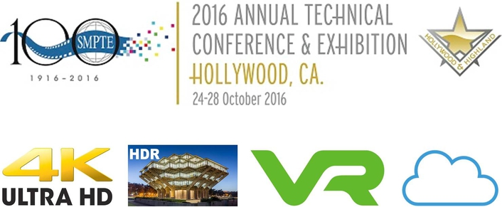 SMPTE® 2016 Annual Technical Conference & Exhibition Takes on Timely Topics: UHD, HDR, VR, Cloud, and More