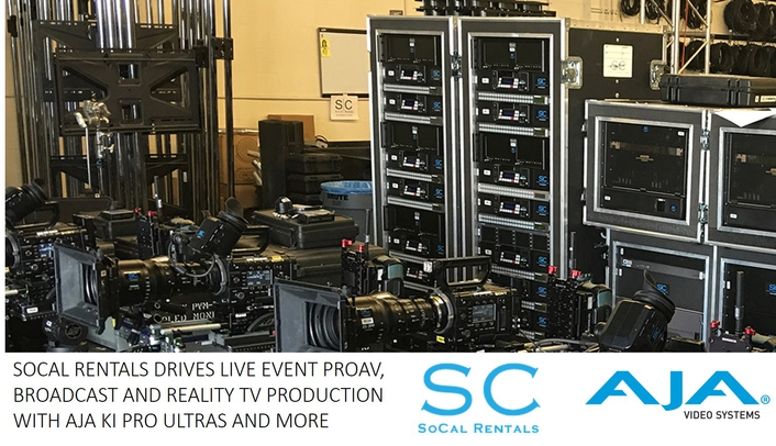 SoCal Rentals Drives Live Event ProAV, Broadcast and Reality TV Production with AJA Ki Pro Ultras and More