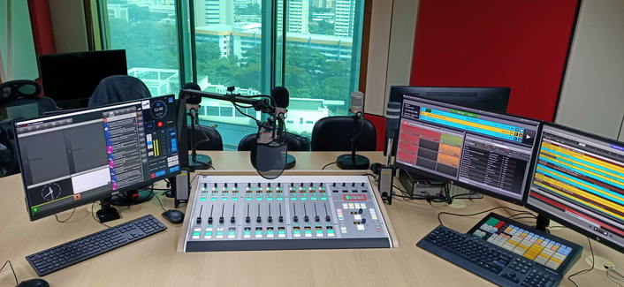 Physical And Virtual Radio Consoles In The Mix