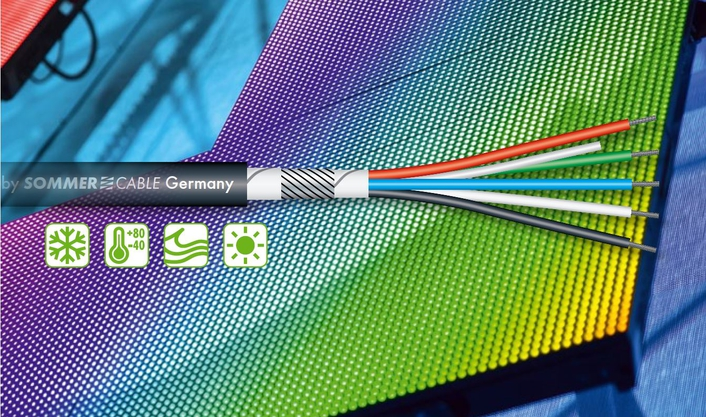 SOMMER CABLE presents waterproof RGBW LED cable