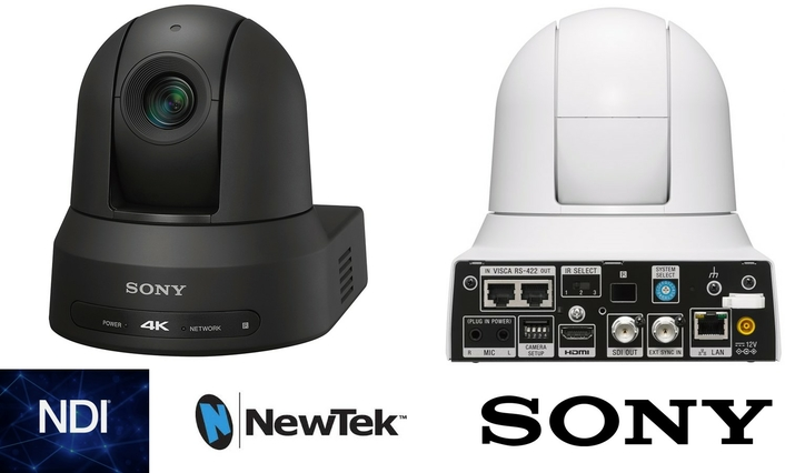 NewTek Video-Over-IP Technology, NDI® Is Adopted By Sony's Latest 4K Pan-Tilt-Zoom Camera