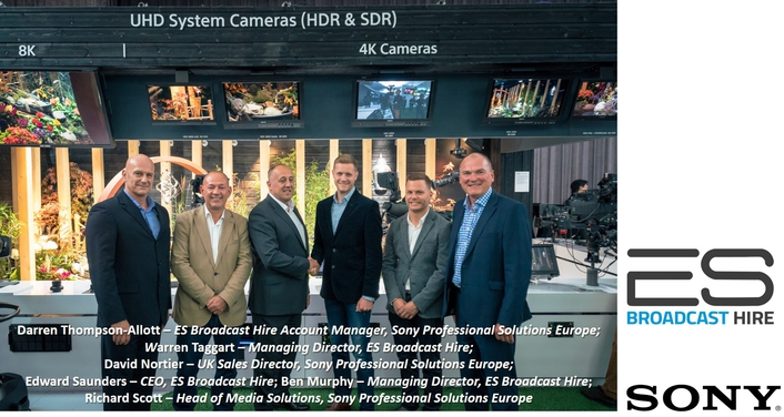 ES Broadcast Hire bolsters 4K inventory with major investment in 100 Sony HDC-4300s