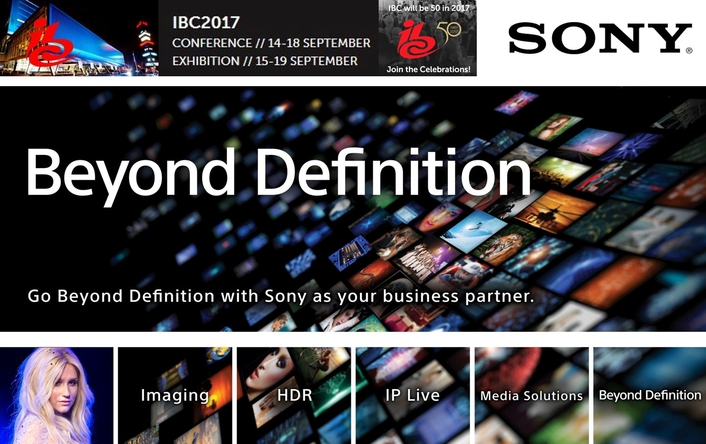 Sony returns to IBC 2017 helping media companies build their brands and audiences