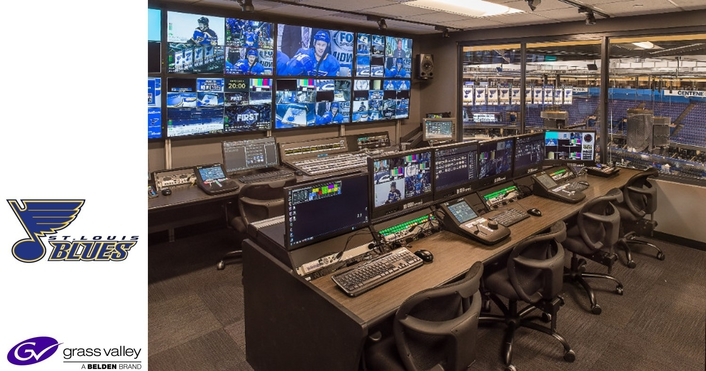 Grass Valley Upgrades St. Louis Blues' Video Control Room