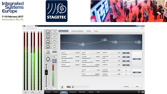 Stage Tec Audio and Mixing over IP at ISE2017