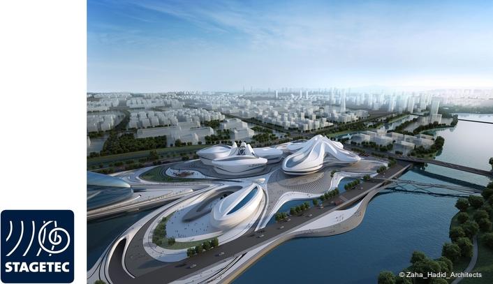 Three CRESCENDO and large NEXUS audio network in spectacular architecture