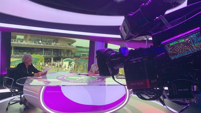 MOOV serve ace augmented reality graphics for BBC Sport at Wimbledon 2019