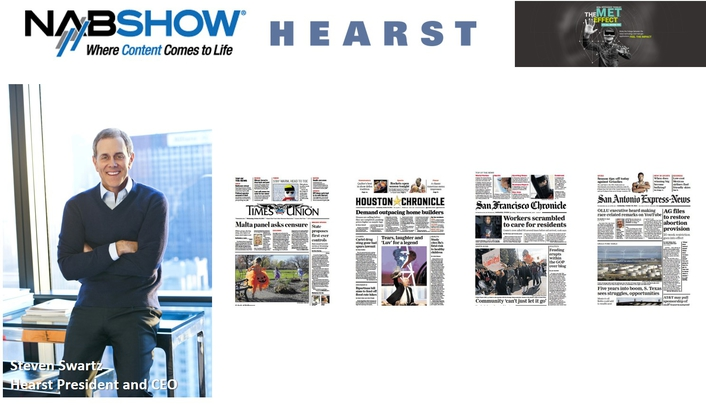 HEARST PRESIDENT AND CEO STEVEN SWARTZ TO HEADLINE 2017 NAB SHOW OPENING
